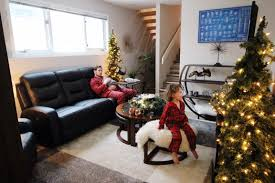 lifestyle home decor our man cave reveal with thebrick mancave home decor the brick river recliner old navy plaid matching family christmas pyjamas