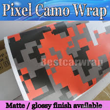 Ford Camo Truck Wraps - purple red white green pixel camo vinyl car wrap film with air