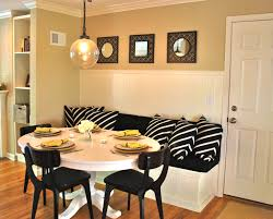interesting banquette dining set white wooden banquette seating