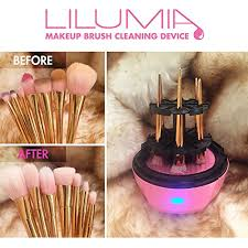 lilumia 2 makeup brush cleaner device chrome silver electronic cleaning machine keeps cosmetic makeup brushes soft clean with the push of a on