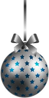 large transparent bluesilver ornament png clipart
