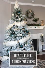 how to flock a christmas tree via oh everything handmade llc