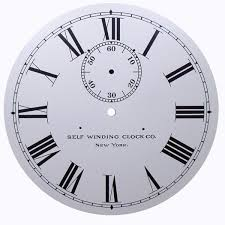 roamn numeral swc2 12 5 numeral with seconds ken s clock clinic