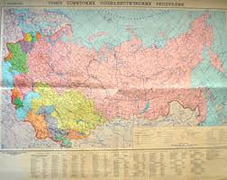map of ussr ussr map etsy