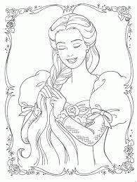 barbie rapunzel coloring pages coloring