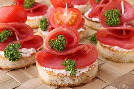 canape toast toast canapes buffet food stock photo picture and royalty free