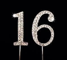 16 cake topper sweet 16 birthday number cake topper with sparkling
