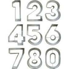 birthday themed cookie cutters numbers cookie cutter set large