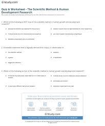 quiz u0026 worksheet the scientific method u0026 human development