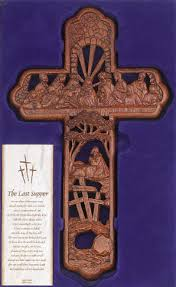 carved wooden crosses last supper resin carved cross for sale by smileyme