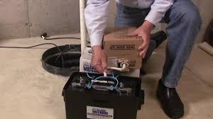 how to fill a basement watchdog standby battery sump pump