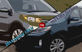 suv honda 2014 crossover comparison 2014 honda cr v vs 2014 kia sorento