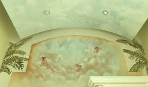 decorative ceiling mural painting and scenic design wall murals by miami mural artists