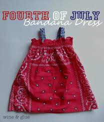fourth of july bandana dress with matching bandana shirt for me
