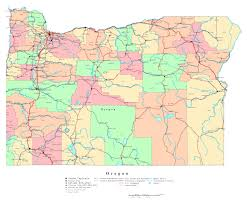 map of oregon detailed large detailed administrative map of oregon state with roads