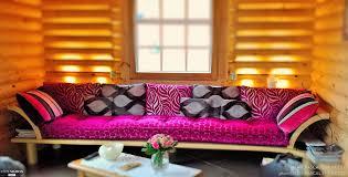 coussin canapé sur mesure canapé sur mesure pour chalet en rondins de bois jean pascal