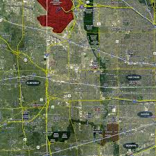 chicago aerial wall mural landiscor real estate mapping 2015 chicago wall map mural standard print scale 70 x90