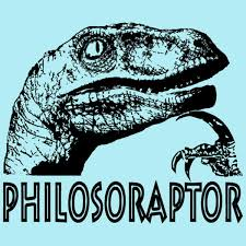 Meme Raptor - philosoraptor know your meme