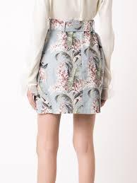 zimmermann clothing zimmermann floral print a line skirt sky sun women clothing skirts