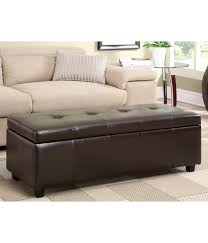 furniture triad leather storage ottoman ethan allen