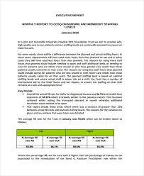 executive report templates 7 free word pdf format download