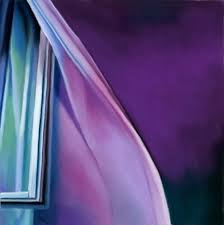 Color Of Light Curtain In The Wind Original Art Painting By