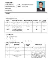 Resumes For It Jobs by Janaki Raman Resume