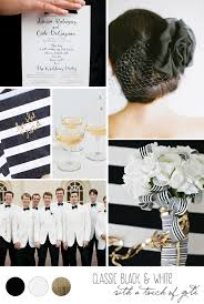 black and gold wedding ideas inspiration board a classic black white gold wedding
