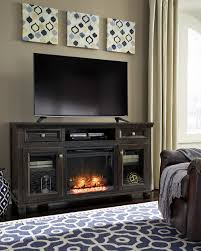 townser audio fireplace television stand set the furniture mart