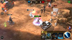 star wars force arena offers moba style gameplay on android