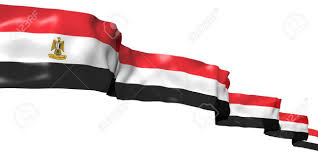 Egypts Flag Egyptian Ribbon Flag Isolated On White Stock Photo Picture And