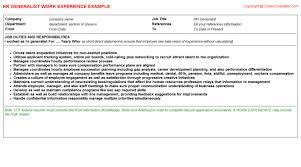 vivint solar human capital generalist cv work experience samples