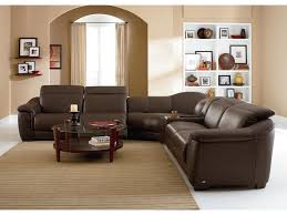 natuzzi editions b641 contemporary leather reclining sectional