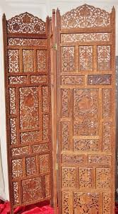 Wooden Room Dividers by Antique Hand Carved Teak Wood Room Divider Screen By Mauvesheep