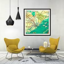 Jersey Shore Map Jersey Shore Map Vintage Sandy Hook Map Art Print Jersey
