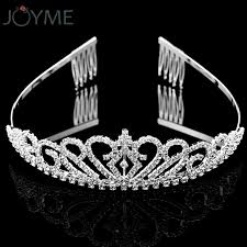 rhinestone bands rhinestone tiara headband silver wedding birthday party