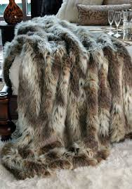 Sofa Blankets Throws Limited Production Design Luxurious Siberian Link Faux Fur Throw