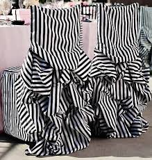 black and white chair covers new black and white striped bustle chair covers discount on