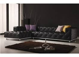 contemporary italian off white leather living room set black
