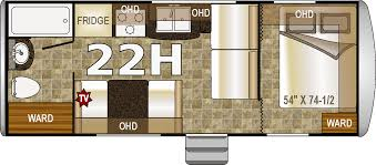 2 Bedroom Travel Trailer Floor Plans Northwood Nash 22h