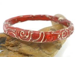 ceramic bracelet fashion images Ceramic jewelry unique and stylish red and white ceramic bracelet jpg