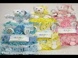 baby diaper cake centerpiece youtube