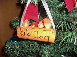 easy yule log ornament craft for preschool education for