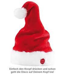 tanzende und singende weihnachtsmütze lustiges accessoire
