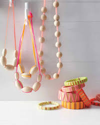 kids summer crafts martha stewart wood and neon lanyard necklaces