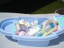 baby shower tub a legacy of guess what s in the bath tub baby shower gamet