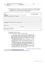 charlie u0026 the chocolate factory 2 worksheet free esl printable