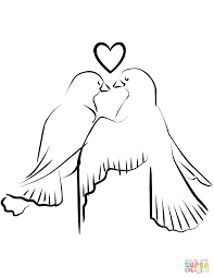 love birds coloring free printable coloring pages