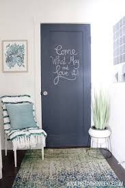 How To Paint Interior Doors by How To Paint A Chalkboard Door