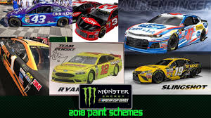 paint schemes all nascar 2018 paint schemes as of 11 22 17 youtube